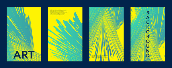 Abstract color covers set.