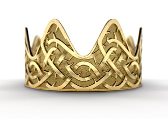 Golden Crown With Thorn Patterns