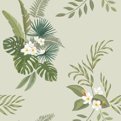 Tropical print. Seamless pattern.