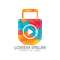 Pocket Video Logo Design. Video app icon concept.