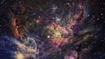 Shiny stars and galaxy space. Elements of this image furnished by NASA.
