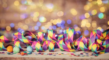 Konfetti Party Bokeh Hintergrund Silvester Neujahr Karneval