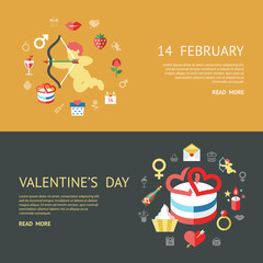 Digital vector february happy valentine's day