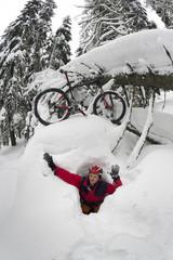 mountain bike trip in the mountains