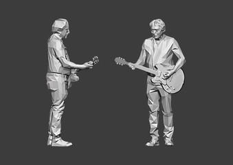 Gitarrist Low Poly