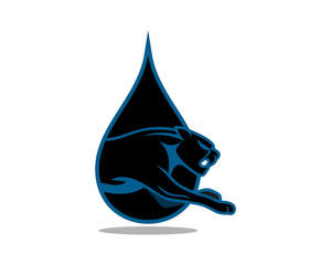 oil black droplet leopard cheetah tiger jaguar beast animal image vector