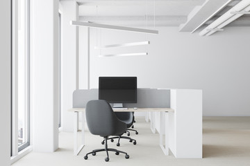 White open space office