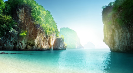 Wall Mural - beach of small island, Krabi province, Thailand
