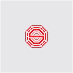 yin yang logo design vector