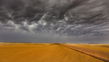 Australian outback storm