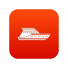 Yacht icon digital red