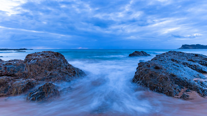Rocky Dawn Seascape