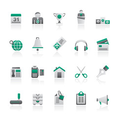 Business and office equipment icons - vector icon set 4