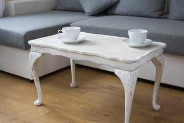 Shabby chic table in living room