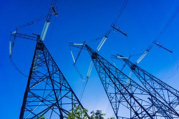 electricity transmission pylon. Power Tower