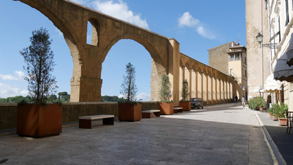 Mura medievale a Pitigliano
