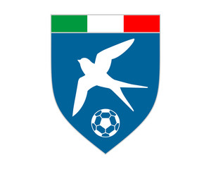 flying swallow bird soccer emblem image vector
