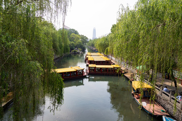 The city Moat that runs around the old city of Jinan, connecting Daming Lake, Quancheng Square and the famous Baotou Spring