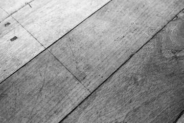 Background of old wooden boards black and white photo