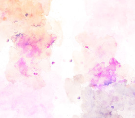 Abstract beautiful Colorful watercolor painting  background, Colorful brush background..