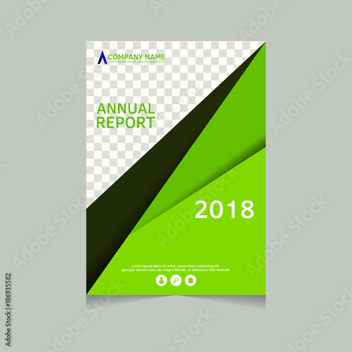 Annual Report Flyer Presentation Brochure Front Page Book Cover Layout Design Template In A4 Size
