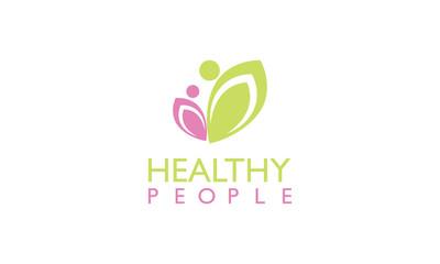Healthy people beauty logo