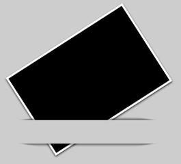 bandeau gris, fond noir pour photo