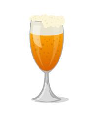 Beer mug with foam isolated icon
