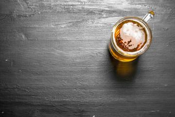 glass of fresh beer.