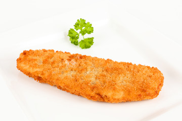 panierter Backfisch