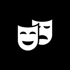 Theater masks couple vectror icon