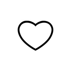 Heart outline vector icon