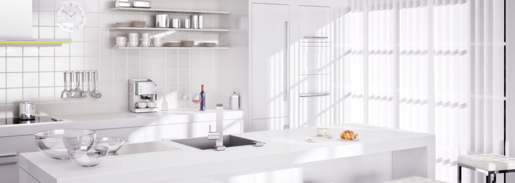 White Kitchen II (panoramisch)