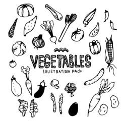 Vegetables Illustration Pack