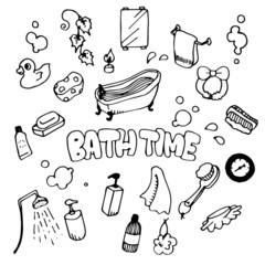 Bath Time Illustration Pack