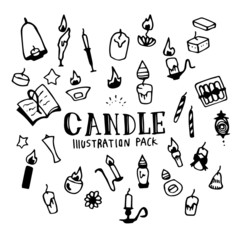 Candle Illustration Pack