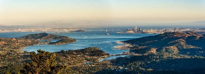 Photo sur Plexiglas Lieux connus d Amérique Panorama Bay Area Blick vom Mount Tamalpais