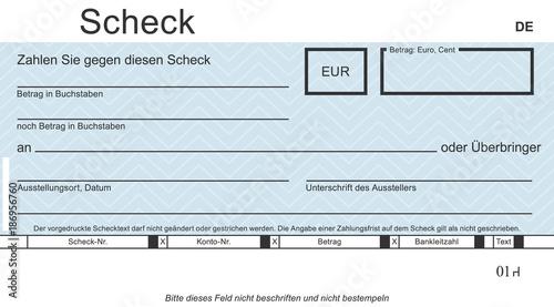 Zahlung Mit Scheck