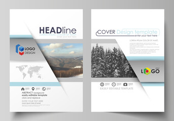 Business templates for brochure, magazine, flyer, booklet, report. Cover design template, vector layout in A4 size. Abstract landscape of nature. Dark color pattern in vintage style, mosaic texture.