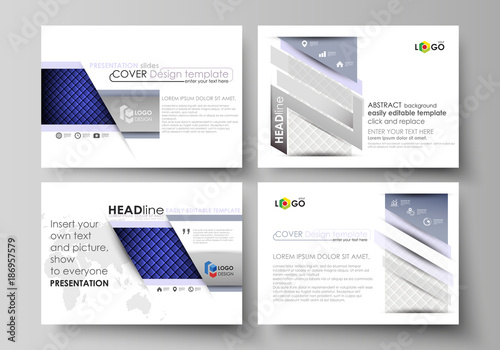 set of business templates for presentation slides easy editable