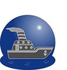 Ship logo. Vector illustration concept.