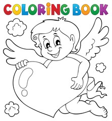 Coloring book Cupid topic 4
