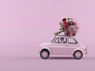 bunch of flowers is coming. 3d rendering