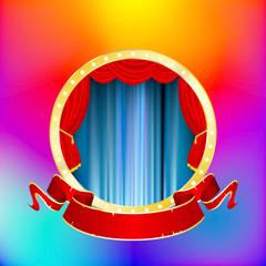 circus star banner rain