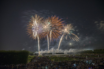 Germany, Hannover, international fireworks competition at Herrenhausen Gardens