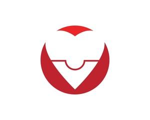Love puzzle logo design template