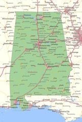 Alabama-US-States-VectorMap-A