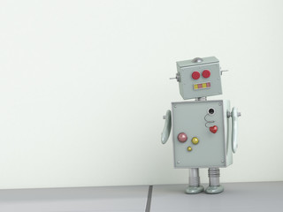 Robot with lovesickness, 3D Rendering