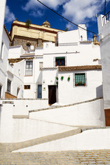 Spain, Andalusia, Cadiz, Olvera, typical alley and houses
