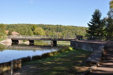 Bridge Over a Pennsylvania Lake